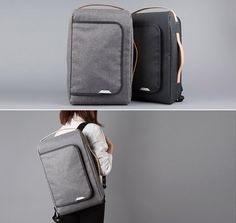 RawRow_Bag. Laptop backpack you can wear as a normal bag as well. Great for commuting with a heavy laptop!