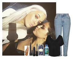 """""""Fun day w/ Lottie and Selena"""" by walking-in-the-wind ❤ liked on Polyvore featuring Topshop, Casetify, Bobbi Brown Cosmetics, Marc Jacobs and New Balance"""