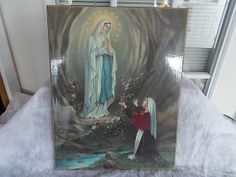 Vintage Our Lady Of Lourdes And St.Bernadette by ladygirltreasures, $10.00