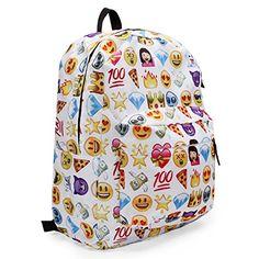 e277c00fd2 KING DO WAY Espressione Divertente Zaino Donne Zaino Viaggio Borsa Backpack  Scuola: Amazon.it: Sport e tempo libero