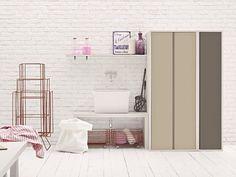 Mobile lavanderia componibile per lavatrice ACQUA E SAPONE Collezione Acqua e Sapone by Birex | design Monica Graffeo
