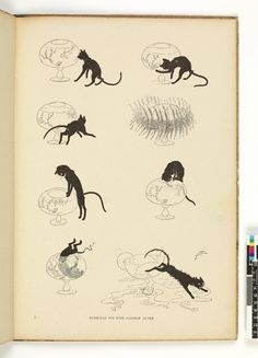 Collected album of 'Des Chats. Dessins sans paroles par Steinlen'. Print made by  Théophile Alexandre Steinlen. Paris, 1898.