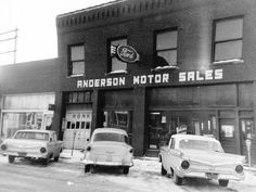 Anderson Motor Sales Ford, Slater MO, 1959 | Bill Cook | Flickr