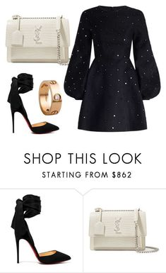 Jan 2018 - A fashion look from January 2018 by nuage-orage featuring Zimmermann, Christian Louboutin, Yves Saint Laurent and Cartier Dressy Outfits, Mode Outfits, Chic Outfits, Girly Outfits, Look Fashion, Fashion Models, Womens Fashion, Fashion Trends, Polyvore Outfits