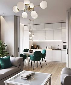beautiful and affordable dining room decoration ideas 28 House Design, Living Room Decor Apartment, Open Plan Kitchen Living Room, Interior, Home Decor Kitchen, House Interior, Affordable Dining Room, Apartment Decor, Apartment Interior