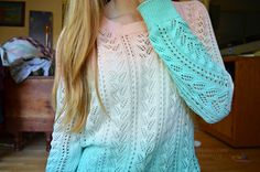 ombré sweater. ♡