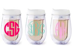 Personalized+Bev2go+stemless+wine+glass+white+lid+by+Dawlens,+$13.00