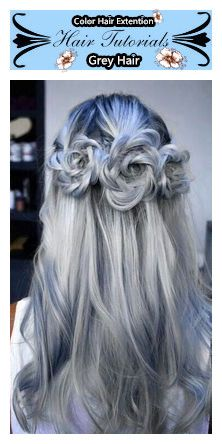 Fabulous Gray #Hairstyles, Grey color is the most popular color hair in 2015. #Besthairbuy, #Halloween is coming, be the shining star!