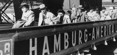 Jewish refugees board the MS St. Louis in Hamburg, Germany, in May 1939.