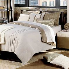 textured bedding set in neutral color tones