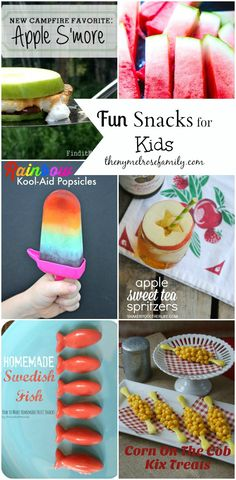 Fun Snacks for Kids www.thenymelrosefamily.com #snacks #funfoodforkids