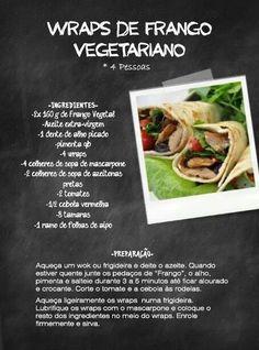 Wrap de frango vegetariano