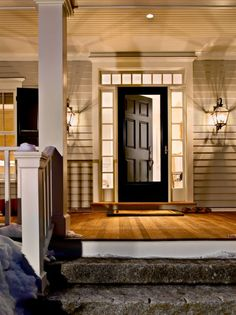 very welcoming porch and door! if i dont have a screen porch/sun room I'd love to have a front porch!