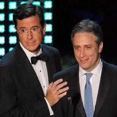 My favourite comedy duo Jon Stewart and Stephen Colbert. They don't work too much with eachother now-a-days, but when they do, its fantastic.