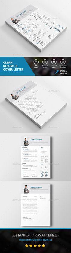 Resume u2014 Photoshop PSD #design #clean cv u2022 Download ➝   - clean resume design
