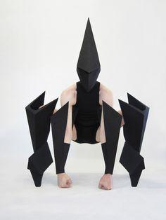 Gareth Pugh design costumes for Carbon Life, Harper's Bazaar.