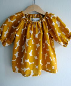 Yellow Circles Baby Blouse 612 mths 12 yrs by TreefallDesign My Baby Girl, My Little Girl, Little Babies, Little Ones, Cute Babies, Baby Kids, Little Princess, Baby Baby, Fashion Moda