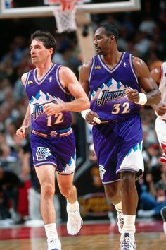 John Stockton & Karl Malone - Utah Jazz 1998.... Those were the days! They were magic together the way they could read one another's mind w/o even looking at each other on the court!