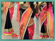 Online Shopping Site Of India -Shop for Electronics, Clothing, Men & Women Accessory, Watches, Shoes and Party Wear Dresses, Party Wear Sarees, Indian Bollywood, Bollywood Fashion, Black Saree Blouse, Indian Party Wear, Stylish Sarees, Half Saree, Saree Collection
