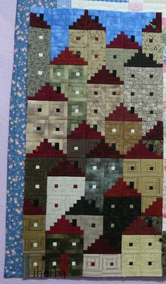 Quilt of houses