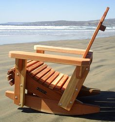 Hybrid rocking chair/Adirondack chair. Really solid build and perfect place for a chair.