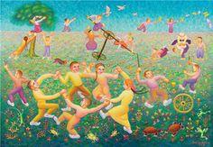 Bu artist, painter Ibrahim Balaban, from Turkey. Image Glass, Art Classroom, Classroom Ideas, Mosaic Art, Art Education, Art For Kids, Outdoor Decor, Turkey, Paintings