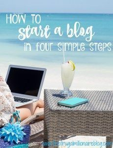 Ready to start a blog?! Use my guide to start a blog in four simple steps and receive a copy of my ebook for free! I've gone from making nothing to over $2000/month from my blog!