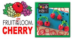 Fruit On the Rainbow Loom - Cherry or Blueberry Charm perfect for a loom band charm bracelet!