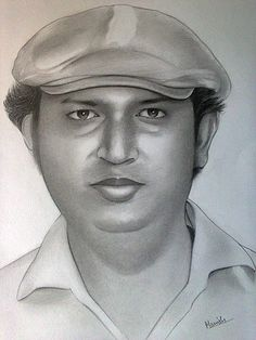 Portrait in pencil on Paper