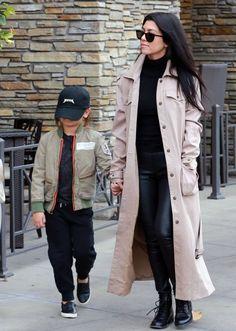 "heykdolls: ""Kourtney Kardashian and Mason | Arriving at the movie theather | Westlake, CA | 03 • 01 • 2016. """