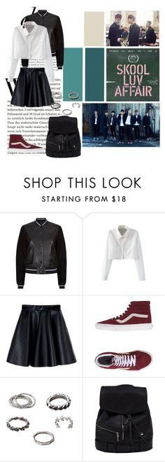 """""""BTS-Skool Luv Affair"""" by crystallurvesft ❤ liked on Polyvore featuring rag & bone, WithChic, MSGM and Vans"""