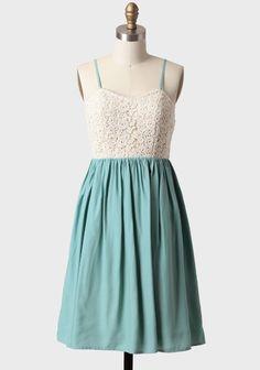 Graceful Dance Dress In Mint | Modern Vintage Mint Combinations LOVEEEEEE! (With a little jacket or shawl)