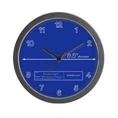 Blueprint Wall Clock On