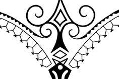 polynesian tribal thong tattoo fineline art