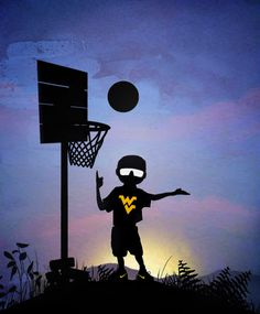 West Virginia University Mountaineers Basketball kid #WVU