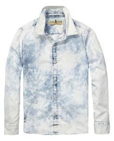 slim fit tie-dye shirt - Scotch & Soda