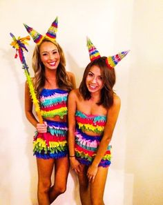 Require an impressive fancy dress costume this Halloween? Have yourself one of these new Halloween Costumes for 76 Halloween Costumes For Women That Are Seriously GENIUS. Pinata Halloween Costume, Halloween Kostüm Baby, Diy Halloween Costumes For Women, Fete Halloween, Halloween College, Halloween Dress, Easy Costumes Women, Unicorn Halloween, Woman Costumes