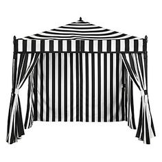 Z Gallerie's black and white Portofino Pavilion in shady chic for summer, $699.00