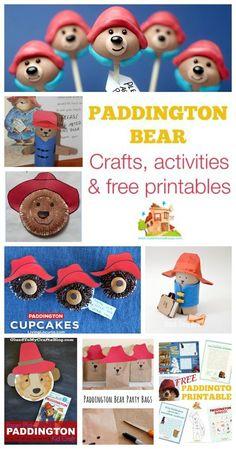 Paddington bear crafts activities and free printables.  Celebrate The adventures of Paddington Bear with these super kids crafts, printables and activities.