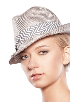 Spring Summer Grey Natural Sun Straw Hat Gray Sizal Silver Everyday Trilby Womens Fedora New Can Be Made in Any Size