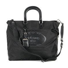 5de68286796d2c real prada logo nylon handbag bn1106 - black ebay [6bag9901] - $346.80 : # Prada #Handbags #Outlet