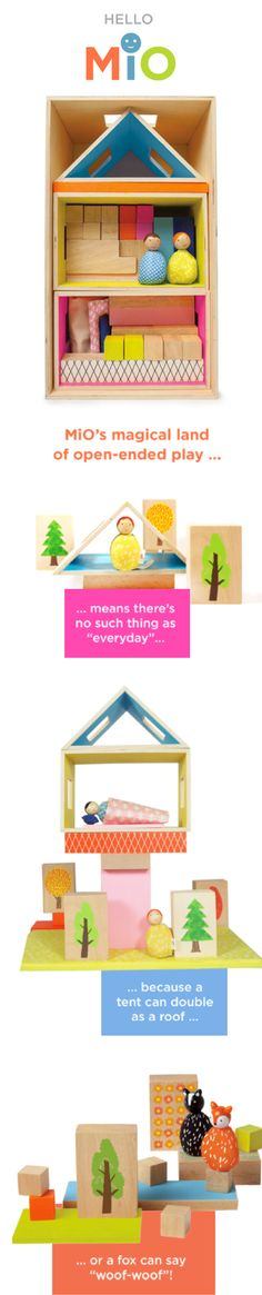 Introducing MiO. A new collection of open-ended play sets.