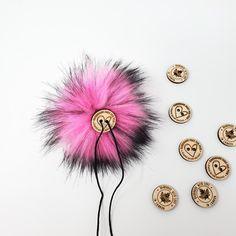 Flamingo Faux Fur Pom Poms – Warehouse 2020 More Code, Faux Fur Pom Pom, Black Nylons, Pom Poms, Warehouse, Flamingo, Pink, How To Make, Handmade