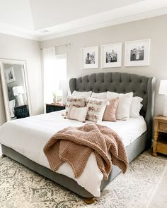 Master Bedroom Refresh JavaScript is currently disabled in this browser. Reactivate it to view this content. Pink Master Bedroom, Master Bedroom Makeover, Master Bedroom Design, Bedroom Bed, Home Decor Bedroom, Bedroom Furniture, Cozy Master Bedroom Ideas, Apartment Master Bedroom, Master Master