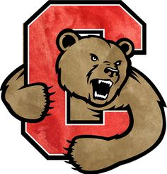 cornell big red alternate logo 1998 a bear clawing out