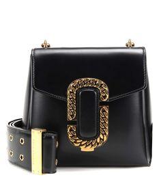 St. Marc Small black leather shoulder bag