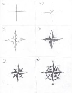 How to draw a compass rose , How to draw maps, Tutorial with thanks to creators joy , Resources for Art Students, CAPI ::: Create Art Portfolio Ideas milliande.com, Art School Portfolio Work