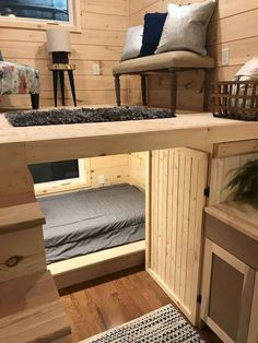 "22 & # ""Sweet Dream"" Reverse Loft Little House On Wheels By Incredible Tiny . 22 & # ""Sweet Dream"" Reverse Loft Little House On Wheels By Incredible Tiny Homes – # Source by Tiny House Design, Home Design, Home Interior Design, Tiny Homes Interior, Room Interior, Interior Ideas, Interior Design Ideas For Small Spaces, Exterior Design, Unique House Design"