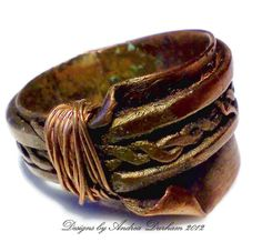 OOAK Copper ring Elvan Ring Renaissance by AndreaDurhamDesigns