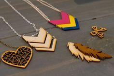Laser Cut Jewelry   #handmade #lasercut #laserengrave #accessories #diy #crafts